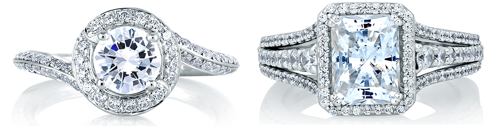 Halo Engagement Rings from A. Jaffe