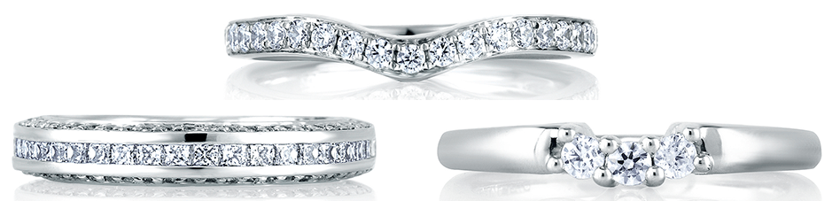 diamond women's wedding bands from A. Jaffe